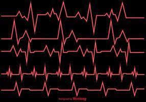 Ilustração vetorial Heart Rhythm Ekg Vector