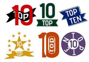 Ícone Flat Top 10 vetor