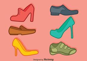 Vector de coleção de sapatos masculinos e femininos