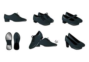 vetor de sapatos de torneira realista