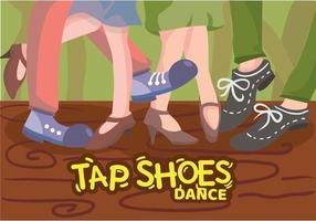 toque sapatos dançando ilustração vetor
