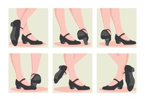 toque sapatos sapatos vetor