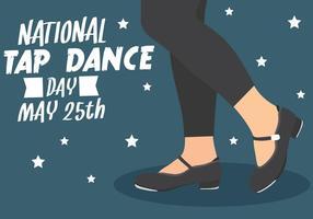 Ilustração nacional do dia da dança de torneira vetor