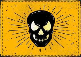 Ilustração vetorial livre do crânio do Dia das Bruxas do vintage