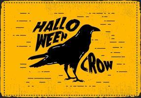 vetor de corvo de Halloween assustador grátis