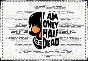 Livre Scary Halloween Skull Vector