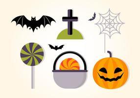 Coleção de Elementos vetoriais Flat Halloween grátis vetor