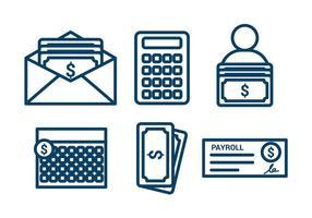 Conjunto de vetos de folha de pagamento vetor