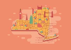 Vetor do mapa de Nova York