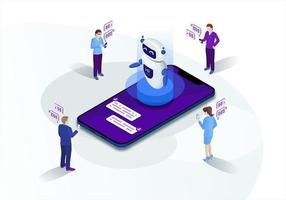 marketing isométrico chatbot