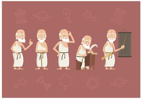 Vector de personagens de Sócrates grátis