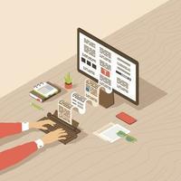 redação, criação de conteúdo vetor