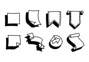 ícones do vetor do jornal bala