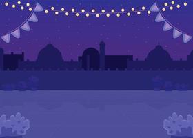 praça indiana noturna vetor