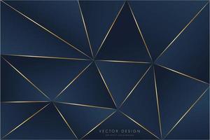 fundo metálico moderno azul e dourado vetor