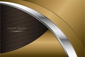 moderno fundo metálico prateado e dourado vetor