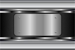 fundo metálico prateado moderno vetor