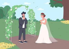 celebração da cerimônia de noivado vetor