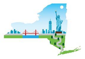 Mapa de Nova York vetor