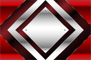 fundo metálico vermelho e prata moderno