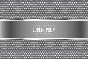 moderno prata e fundo metálico cinza vetor