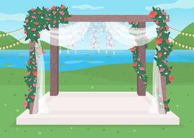 luxuoso local para casamento ao ar livre vetor