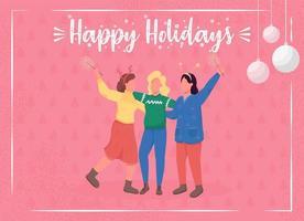 cartão comemorativo de férias