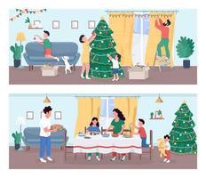 conjunto de celebração de natal vetor
