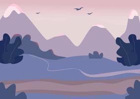 cena de terreno de montanha vetor