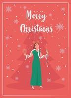 cartão comemorativo para festa de feriado de inverno