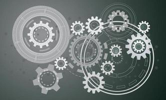 conceito de tecnologia, desenho vetorial industrial. vetor