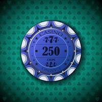 ficha de pôquer nominal, duzentos e cinquenta vetor