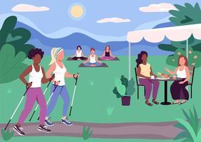 atividades em grupo ao ar livre vetor