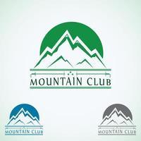 design de logotipo vintage de montanhas