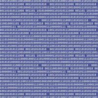 padrão sem emenda de código binário de computador vetor