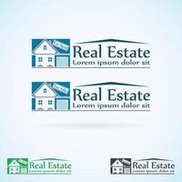 conjunto de cores do modelo de design de logotipo imobiliário. vetor
