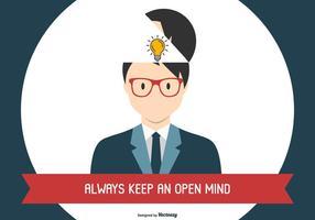Ilustração do conceito de mente aberta vetor