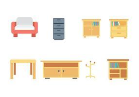 Ícone de mobília plana vetor