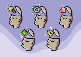Vetor de mente aberta