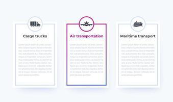 infográficos da indústria de transporte