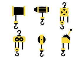 Ícones de vetor de guincho