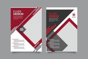 modelos de panfleto empresarial moderno criativo vermelho e preto vetor