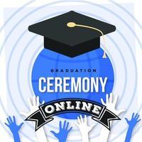 pós-design de mídia social para cerimônia de formatura online