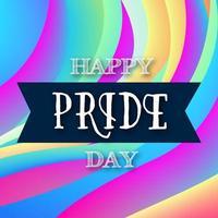 colorido feliz dia do orgulho pós-design de mídia social vetor