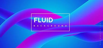 fundo gradiente abstrato azul roxo flud vetor