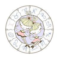 signo do zodíaco, gémeos. horóscopo infantil