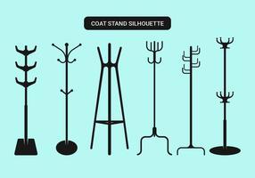 Coleção de vetores de stands de casaco