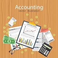 conceito de auditoria de contabilidade vetor
