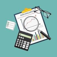 design realista de contabilidade e pesquisa de dados vetor