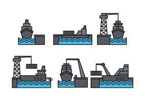 Conjunto de vetores do porto